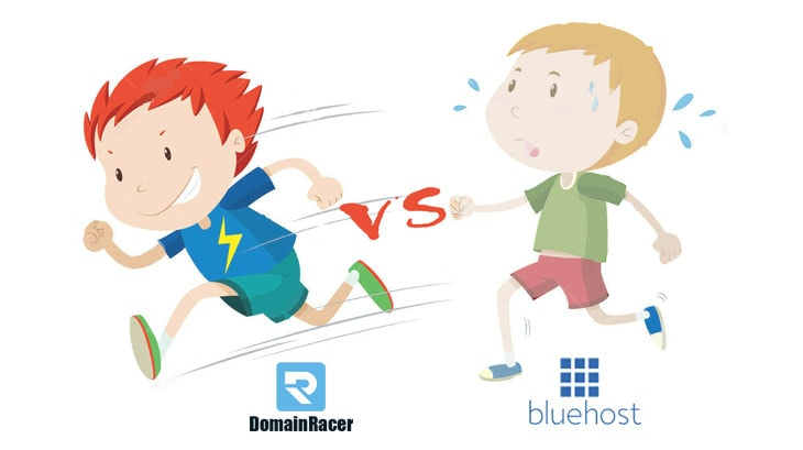 domainracer vs bluehost web hosting company