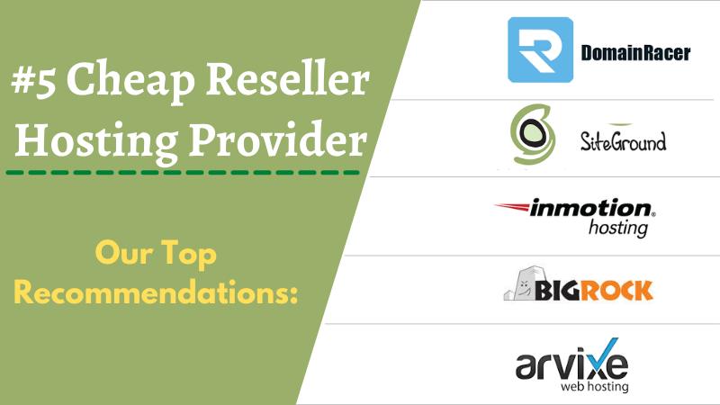 best cheap white label reseller hosting providers